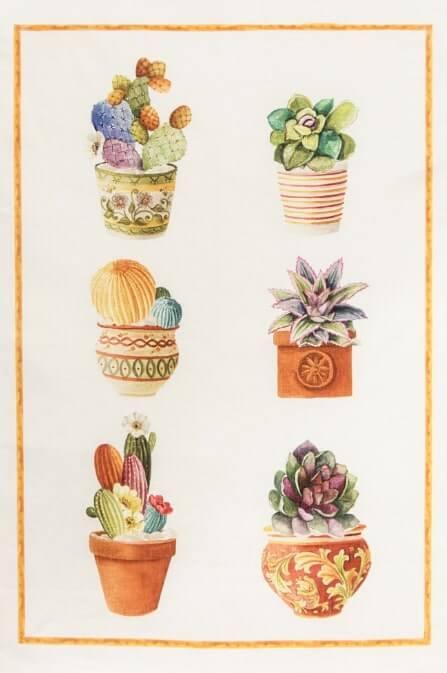 Canovaccio puro lino Cactus