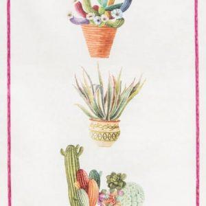 Canovaccio puro lino vasi cactus