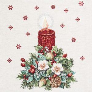 Dettaglio gobelin fantasia natalizia