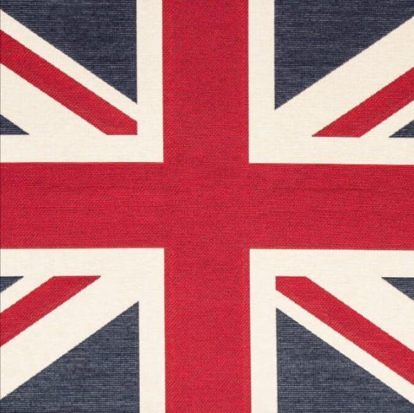 Dettaglio runner bandiera inglese gobelin misto cotone
