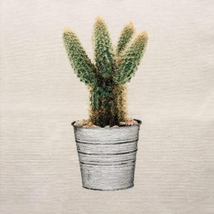 Dettaglio trittico corredo in gobelin cactus