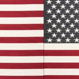 Runner gobelin misto cotone bandiera americana