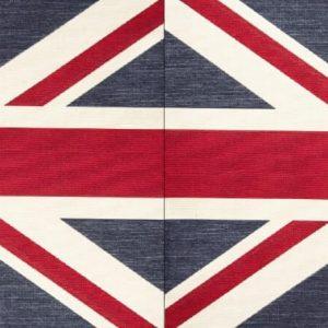 Runner gobelin misto cotone bandiera inglese