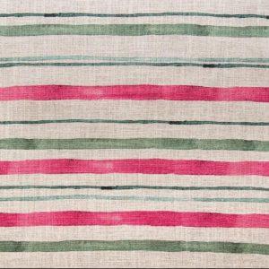 Tessuto d'arredamento a righe puro lino