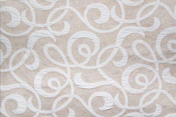 Tessuto d'arredamento cotone e lino double face fronte