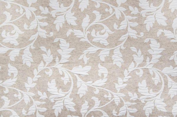 Tessuto d'arredamento cotone e lino fantasia floreale fronte