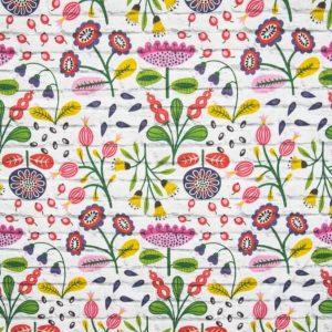 Tessuto d'arredamento cotone puro fantasia floreale