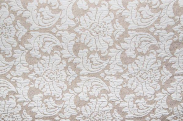 Tessuto d'arredamento double face cotone e lino damascato fronte