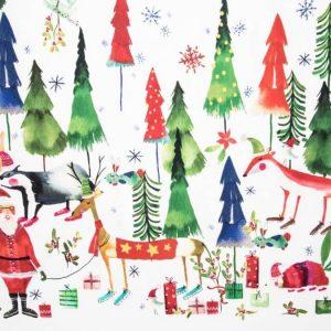 Tessuto d'arredamento fantasia natalizia antimacchia