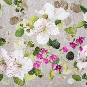 Tessuto d'arredamento puro cotone fantasia floreale