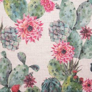 Tessuto d'arredamento puro lino fantasia floreale