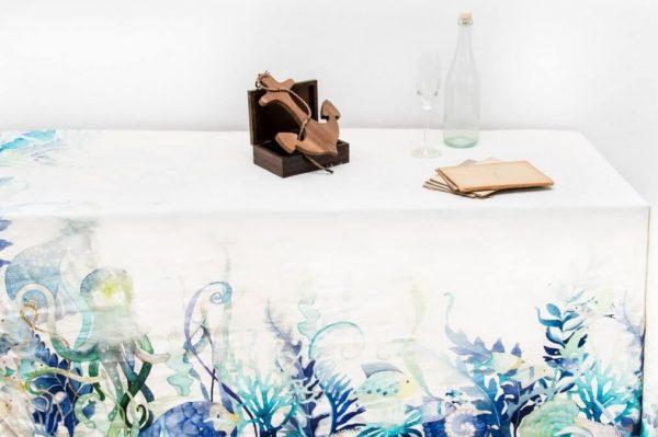 Tovaglia puro lino fantasia marina