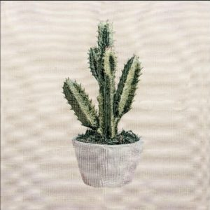 Trittico corredo gobelin cotone cactus