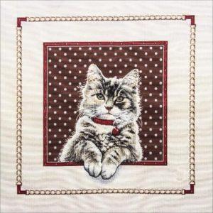 Trittico gobelin gatto
