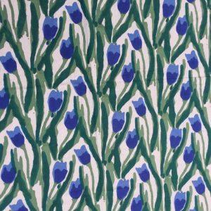 Dettaglio mezzero fantasia tulipani blu