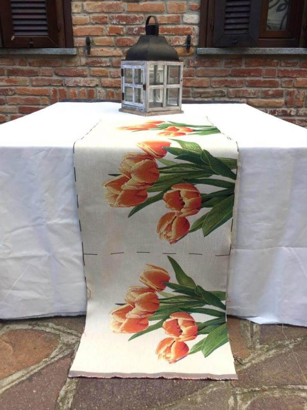 Trittico con tulipani arancione